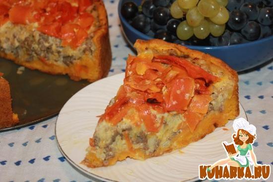 Рецепт Пирог с мясом и морковью