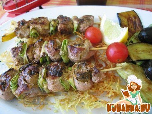 Рецепт Шашлычки из свинины фаршированные