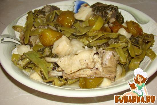 Рецепт Зеленая фасоль с бараниной