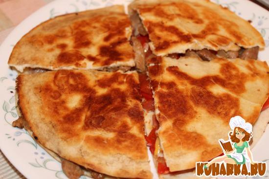 Рецепт Кесадилья (c креветками или свининой)