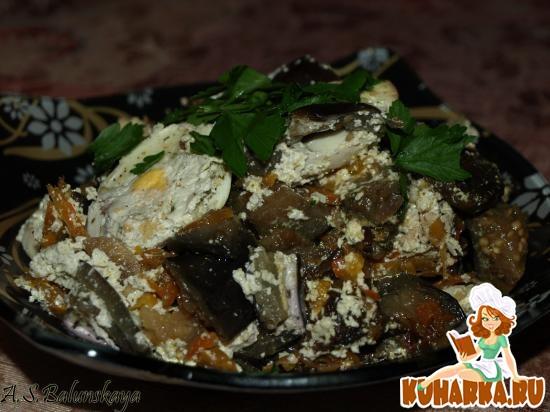 Рецепт Баклажаны с грибами в горшочке