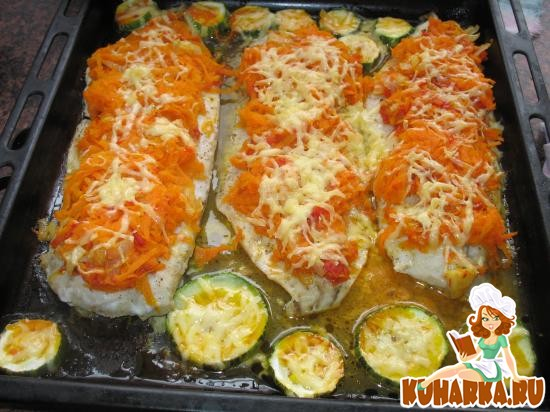 Рецепт Филе рыбы, запеченное с овощами