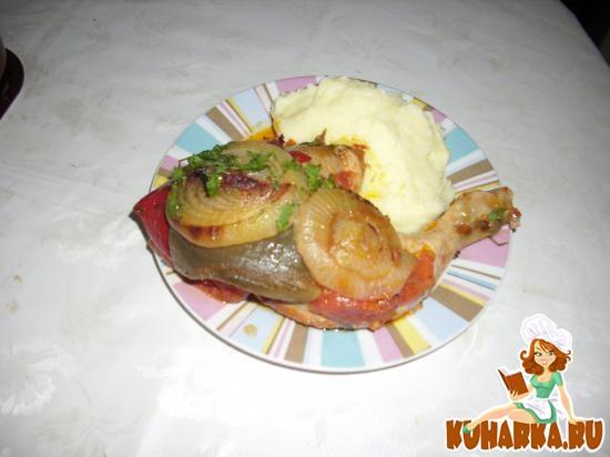 Рецепт Цыпленок, припущенный с овощами