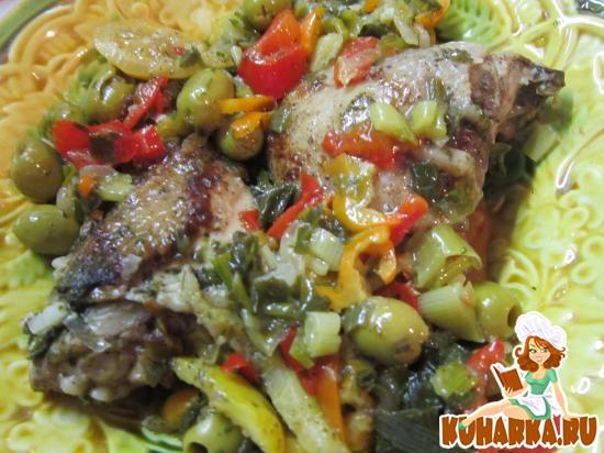 Рецепт Тажин с курицей, оливками и лимоном