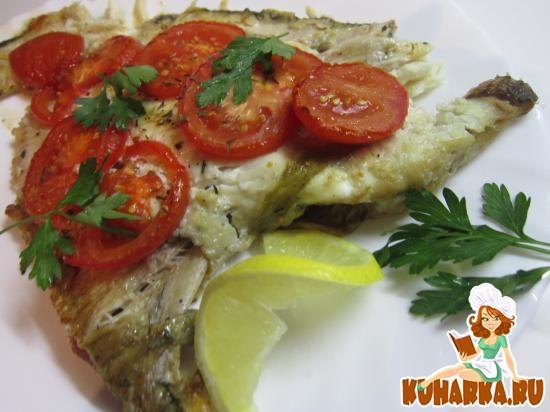 Рецепт Камбала с тимьяном и помидорами
