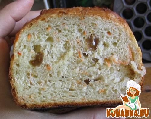 Рецепт Хлеб-кекс с яблоком, морковью и изюмом
