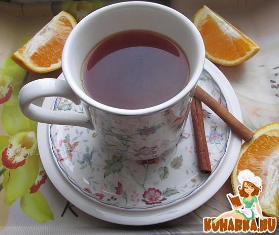 Рецепт Домашний чай с корицей и апельсином