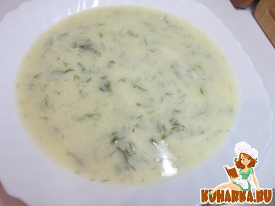 Рецепт Суп из кабачков с брынзой