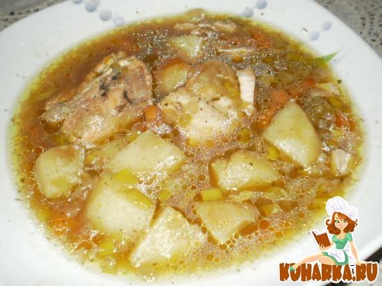 Рецепт Суп с горбушей в горшочке
