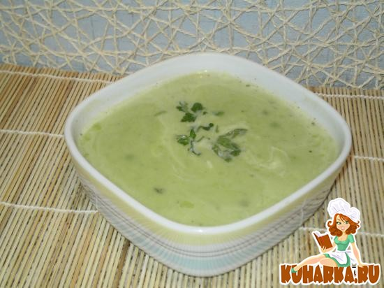 Рецепт Суп-пюре с зеленым горошком
