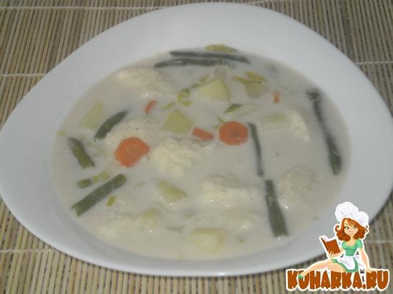 Рецепт Сырный супчик с клецками