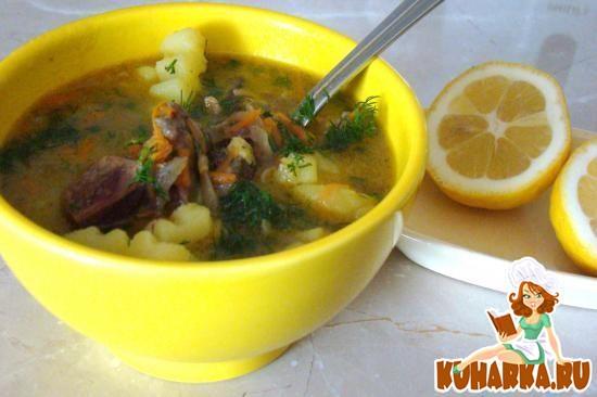Рецепт Суп из гусиных потрохов с лапшой