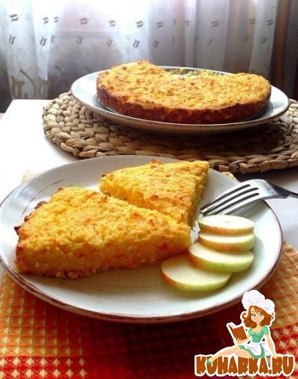 Рецепт Творожная запеканка с грушей, яблоками, морковью