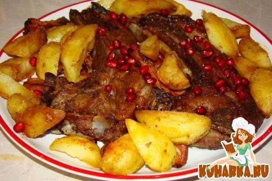 Рецепт Свиная корейка запеченая в духовке под гранатовым соком