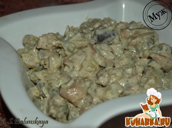 """Рецепт Салат """"Горчичные грибочки"""""""