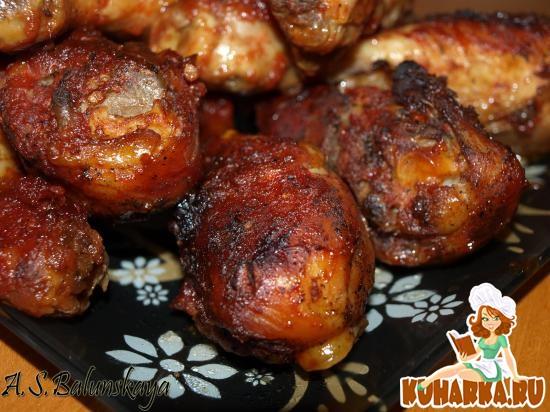 Рецепт Запеченные куриные голени в томатной глазури