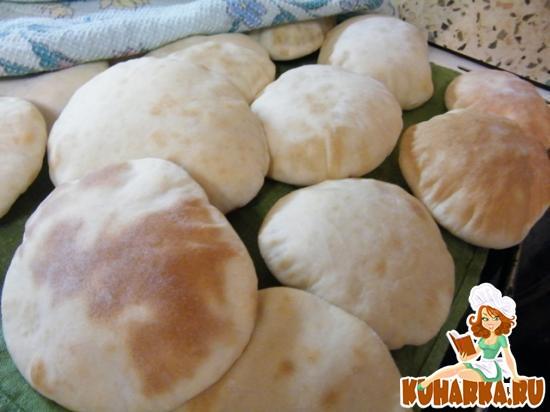 Рецепт Традиционный арабский хлеб - Пита (без начинки) с русскими дополнениями!!!