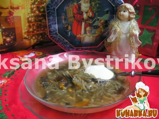 Рецепт Щи грибные,как в русской печке(медленноварка 2,5 литра)