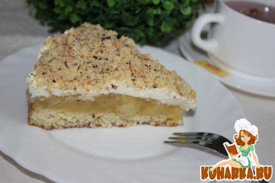 Рецепт Яблочный торт с ореховым штрейзелем