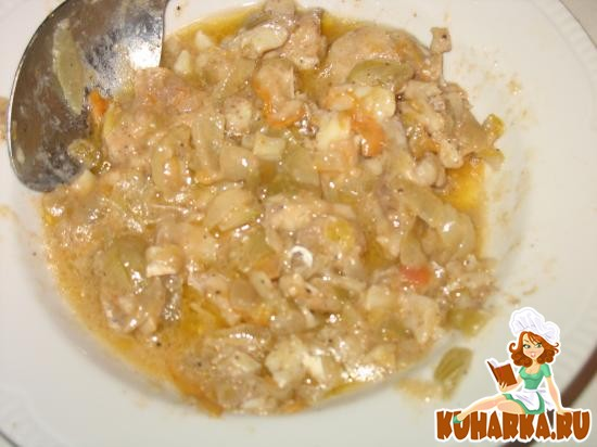 Рецепт Рыба, тушеная в луково-помидорном соусе