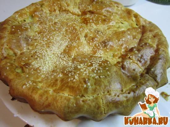 Рецепт Пирог заливной с савойской капустой и яйцами