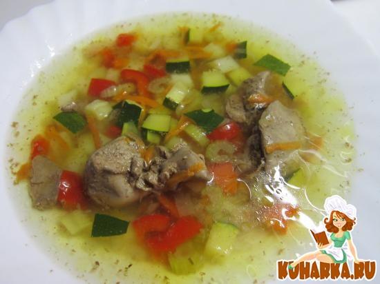 Рецепт Суп с печенью и овощами