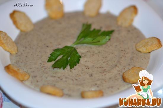 Рецепт Суп-крем из шампиньонов и баклажан