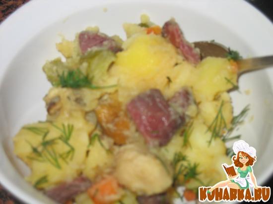 Рецепт Азу с вяленой говядиной и боровиками