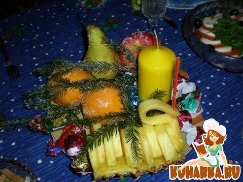 Рецепт Новогодняя фруктовая фантазия