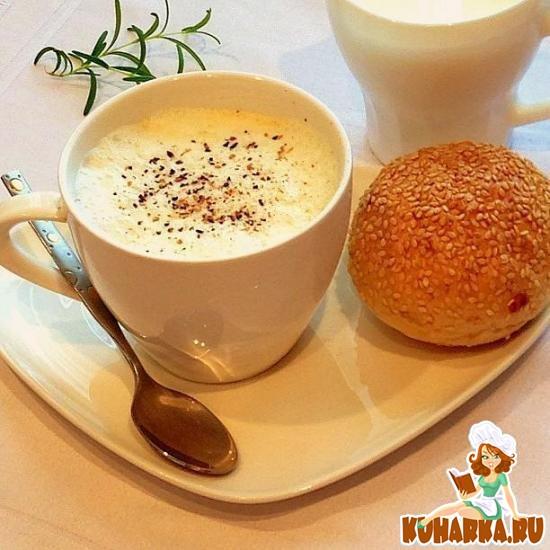 Рецепт Суп капучино с пенкой и белыми грибами
