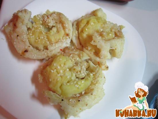 Рецепт Рыбные розочки с картофельным пюре