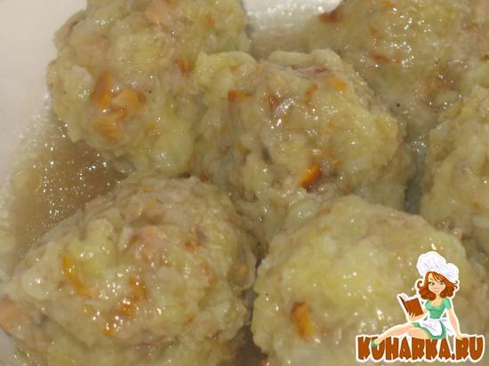 Рецепт Клецки картофельные с грибами