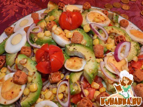 Рецепт Салат с авокадо и кукурузой