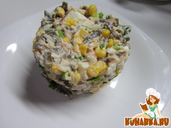 """Рецепт Салат с морской капустой """"Семейный"""""""