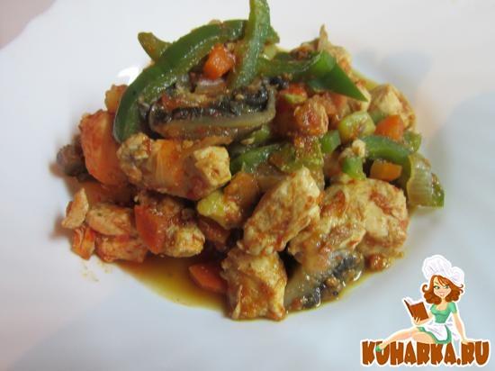 Рецепт Соте с курицей и грибами