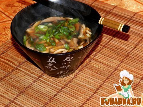 Рецепт Суп мисо с шиитаке и энокитаке