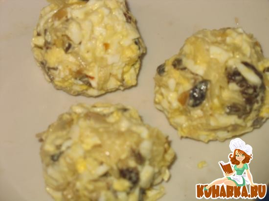 Рецепт Крокеты из капусты, грибов и яиц