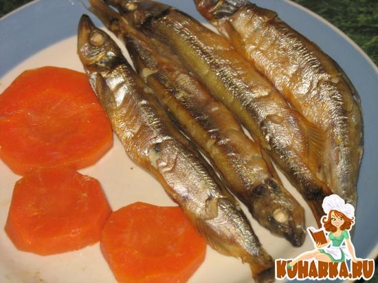 Рецепт Мойва на парУ в духовке на морковке