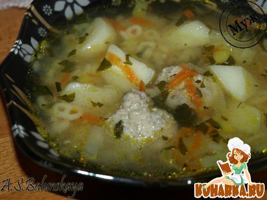 Рецепт Суп с вермишелью и фрикадельками