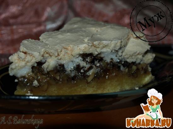 Рецепт Ореховый торт с меренгой