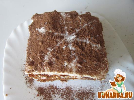 Рецепт Шоколадный медовик со сметанным кремом