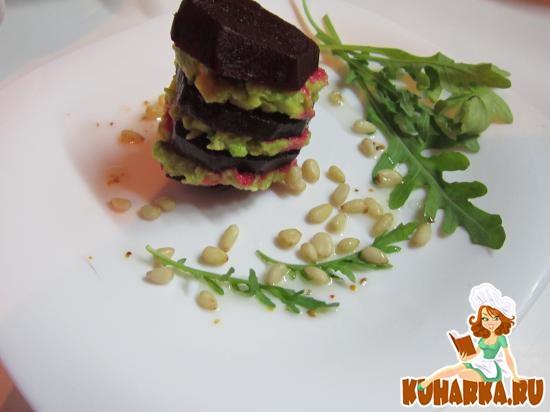 Рецепт Закуска из свеклы и авокадо