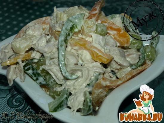 Рецепт Экзотический салат с курицей