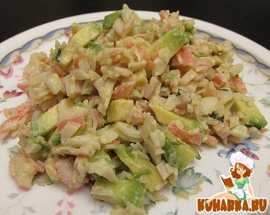 Рецепт Крабовый салат с авокадо