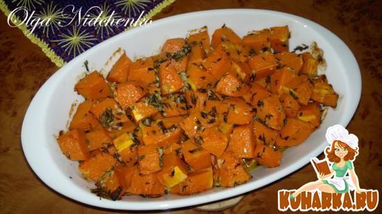 Рецепт Тыква, запеченная с тимьяном и чесноком