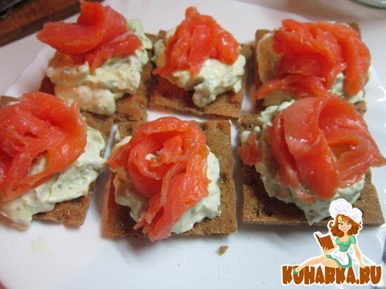 Рецепт Закуска с форелью и авокадо