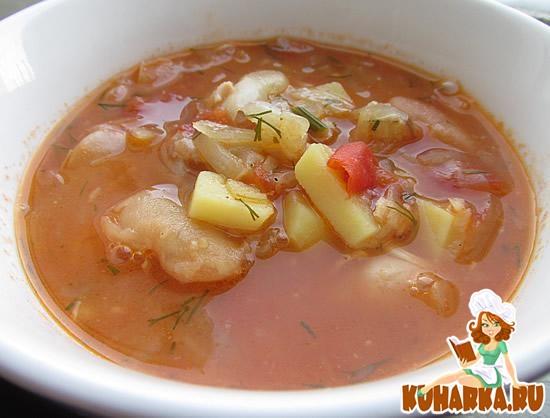 Рецепт Фасолевый суп с капустой