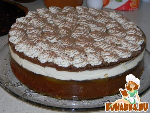 Рецепт Шоколадный грушево-сливочный торт