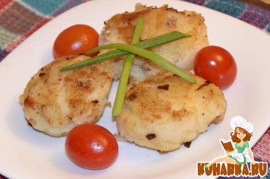 Рецепт Зразы из манки с мясом