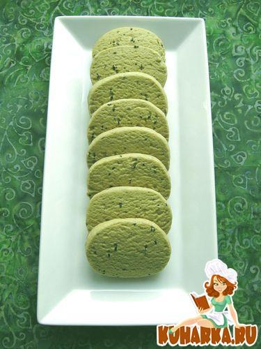 Рецепт Печенье с зеленым чаем матча и кунжутом